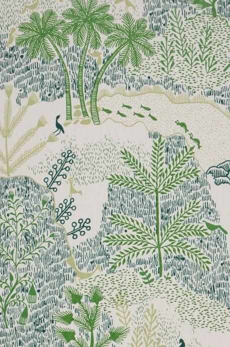Papier peint design Papier peint Tammi vert Détail A4