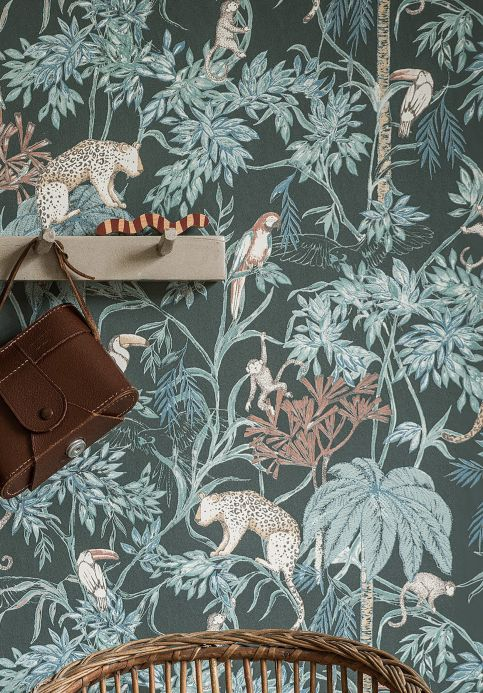 Botanical Wallpaper Wallpaper Ipanema pale green Room View