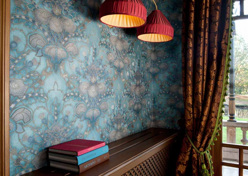 Archiv Wallpaper Malsumi turquoise Room View