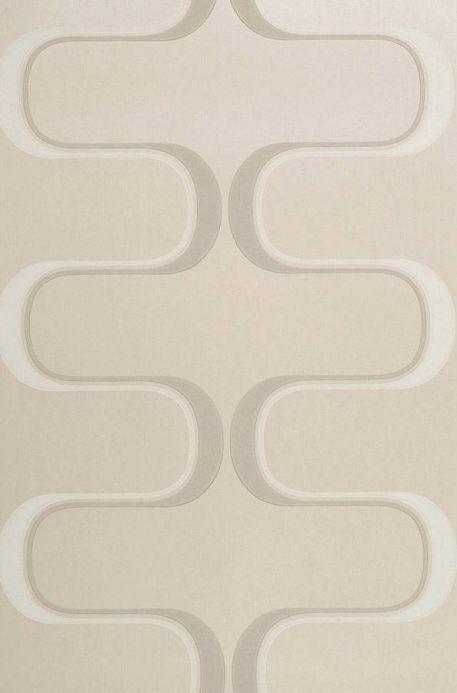 Archiv Papier peint Dusares beige gris clair Largeur de lé
