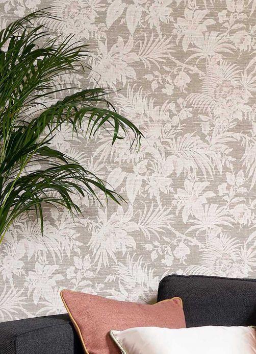 Hallway Wallpaper Wallpaper Moa grey Room View