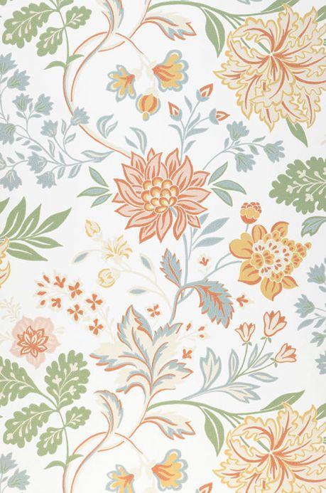 Papel de parede floral Papel de parede Ebba branco creme Largura do rolo