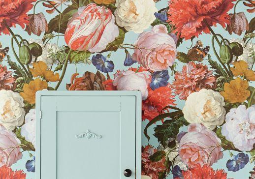 Papier peint Doriana turquoise pastel Vue pièce