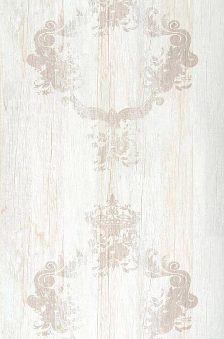 Archiv Papier peint Vintage beige gris clair Largeur de lé