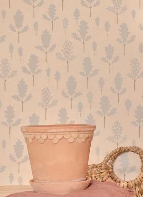 Wallpaper Oak pastel turquoise Raumansicht