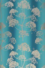 Papel pintado Emorie azul turquesa