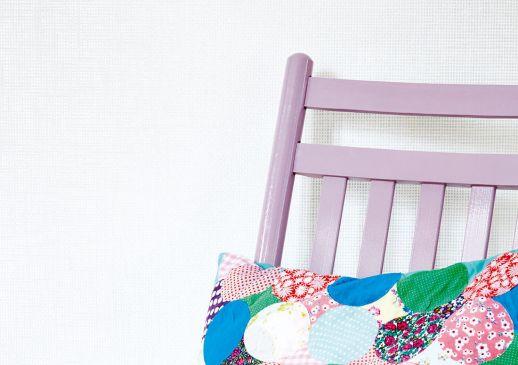 Papier peint Mystic Weave 06 blanc crème Vue pièce
