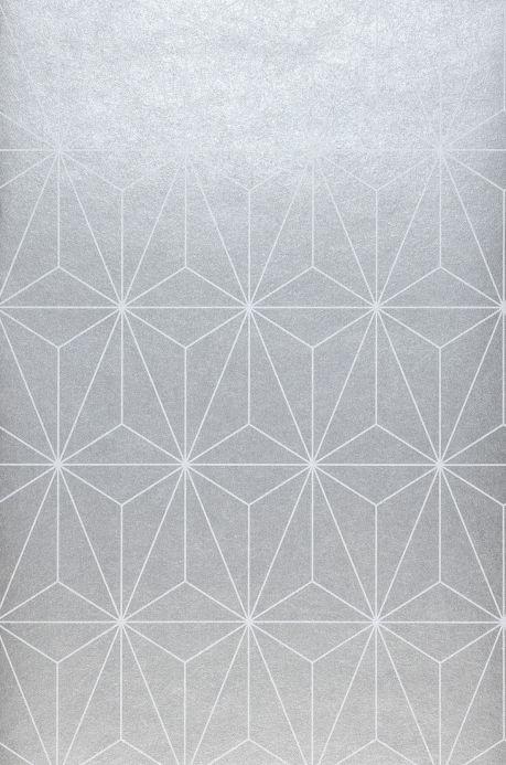 Geometric Wallpaper Wallpaper Morton silver grey Roll Width