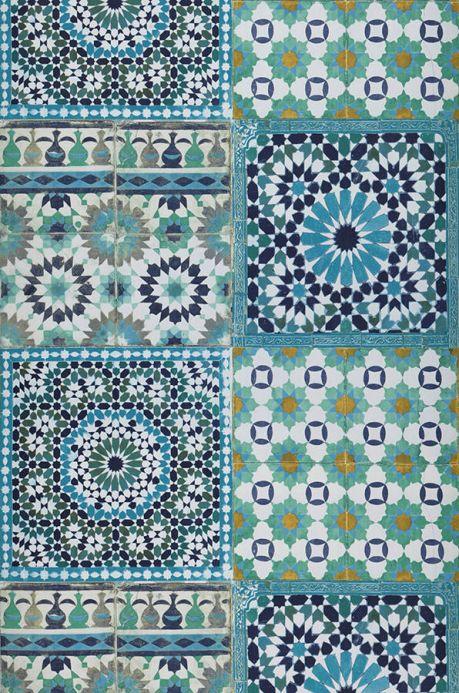 Archiv Papel pintado Azulejos azul turquesa Ancho rollo