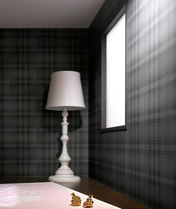 Wallpaper Gekul Matt Plaid Grey tones