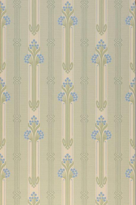 Papier peint classique Papier peint Midela bleu brillant Largeur de lé