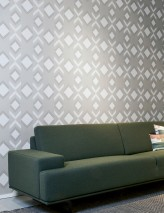 Wallpaper Allegra Matt Art Deco Geometrical elements Silky grey Grey white Matt silver Stone grey