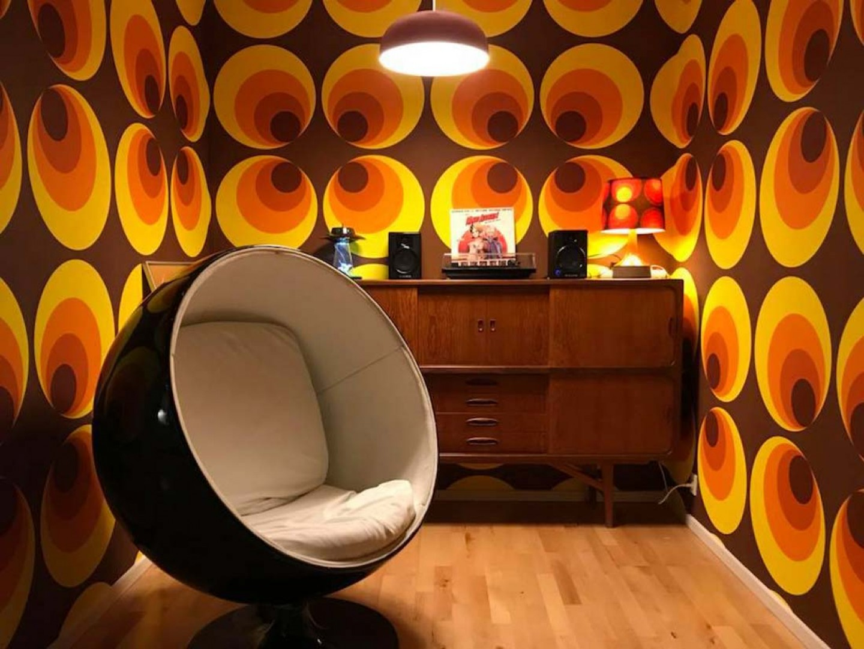 papier peint apollo brun jaune orange papier peint. Black Bedroom Furniture Sets. Home Design Ideas
