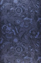 Wallpaper Welamie Shimmering Leaves Blossoms Steel blue Blue shimmer Violet-blue shimmer