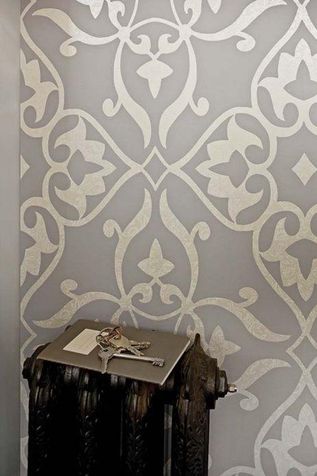 Archiv Papier peint Boreas gris clair  Vue pièce