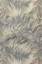 Papel de parede Pilnik Mate Folhas de samambaia Cinza silex Cinza azulado Cinza amarelado Marrom chocolate