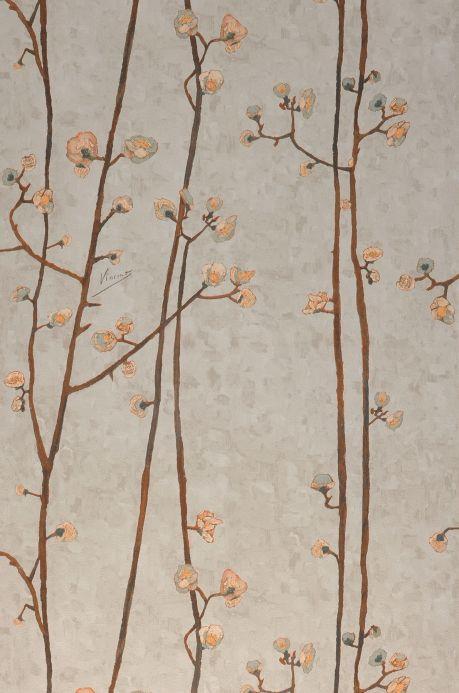 Papel pintado botánico Papel pintado VanGogh Branches gris beige claro Ancho rollo
