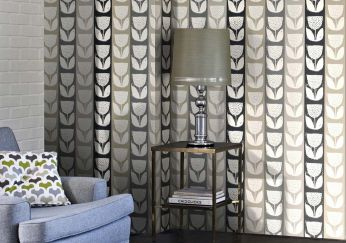 Wallpaper Ana anthracite grey
