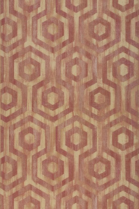 Geometric Wallpaper Wallpaper Marno claret coloured Roll Width