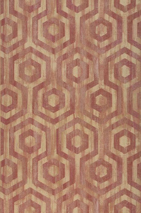 Papel pintado geométrico Papel pintado Marno color burdeos Ancho rollo