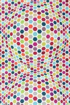 Wallpaper Hypnos Matt Honeycombs White Blue Green Crimson Red