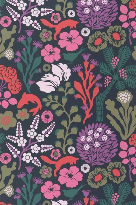 Archiv Wallpaper Arietta violet Roll Width