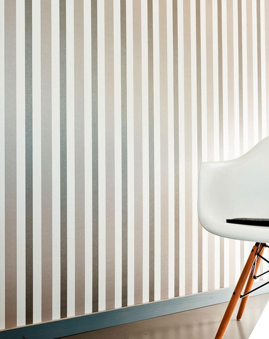 papier peint stripes by porsche gris beige brillant blanc cr me beige gris brillant papier. Black Bedroom Furniture Sets. Home Design Ideas