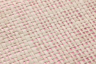 Wallpaper Mystic Weave 01 Matt pattern Shimmering base surface Solid colour Antique pink Light ivory