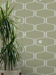 Wallpaper Nirvanus light olive green