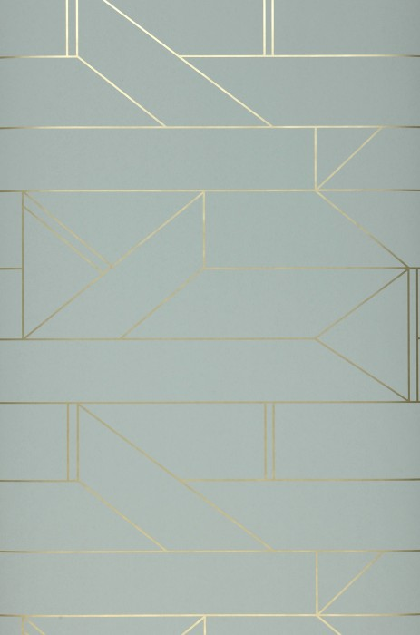 Wallpaper Elmi Shimmering pattern Matt base surface Graphic elements Grey Yellow gold shimmer