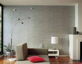 Wallpaper Croco 08 Shimmering Imitation leather Silver grey