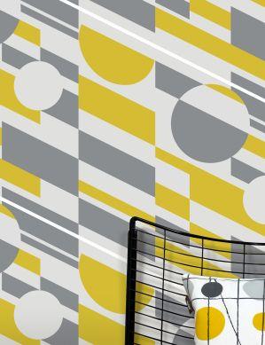 Carta da parati Calimero giallo limone Visuale camera
