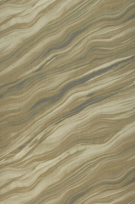 Wallpaper Elyria Matt Looks like textile Imitation marmor Pale olive yellow Green grey Khaki