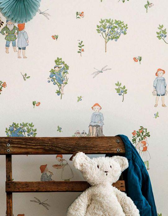 Papel pintado infantil Papel pintado Miranda verde Ver habitación