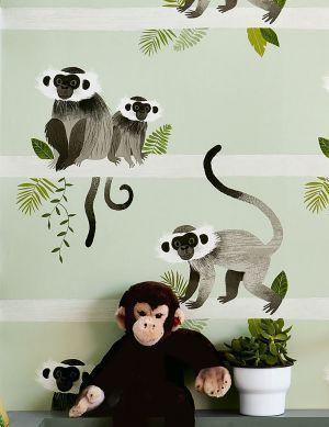 Papel pintado Trixi tonos de verde Ver habitación