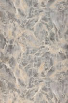 Wallpaper Laurius Matt Imitation marmor Beige Brown beige Grey White