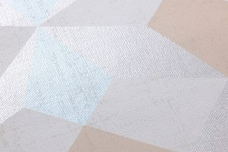 Wallpaper Gregory Matt Graphic elements Cream Light blue shimmer Light ivory Pearl light grey