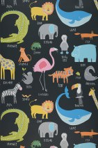 Wallpaper My favorite Animals Matt Animals Black Blue Yellow Grey Green Orange