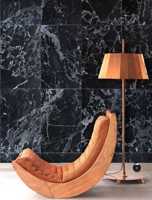 Papel de parede de pedras Papel de parede Marble 05 antracite Ver quarto