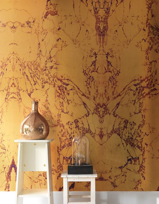 Stone Wallpaper Wallpaper Marble 08 gold Room View