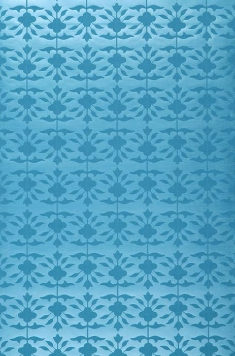 Wallpaper Luna Matt pattern Shimmering base surface Small ornaments Turquoise lustre Turquoise blue