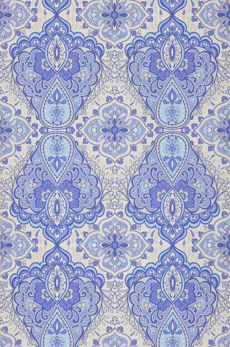 Archiv Papel de parede Rosmerta azul violeta Largura do rolo