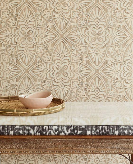 Romantic wallpaper Wallpaper Ragusan light ivory Room View