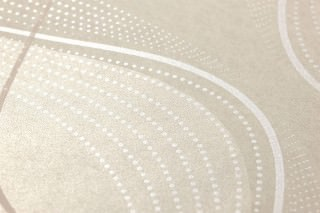 Wallpaper Opoga Matt Wavy pattern Oyster white Cream shimmer Cream shimmer Grey beige