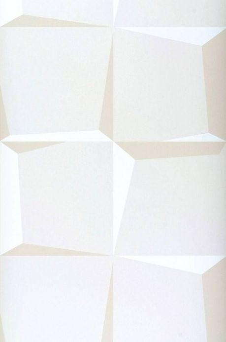 Archiv Carta da parati 3D-Squares bianco crema Larghezza rotolo