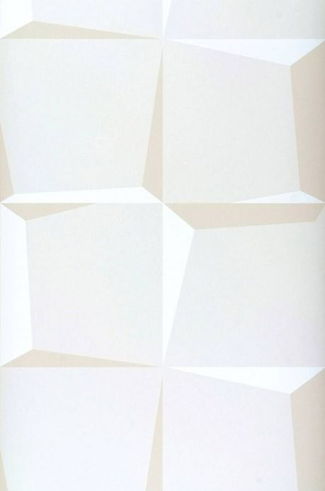 Archiv Papel pintado 3D-Squares blanco crema Ancho rollo