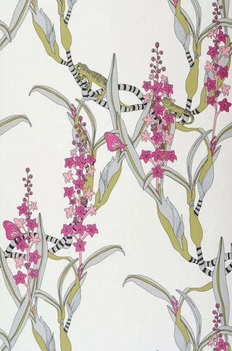 Archiv Wallpaper Geckos reed green Roll Width