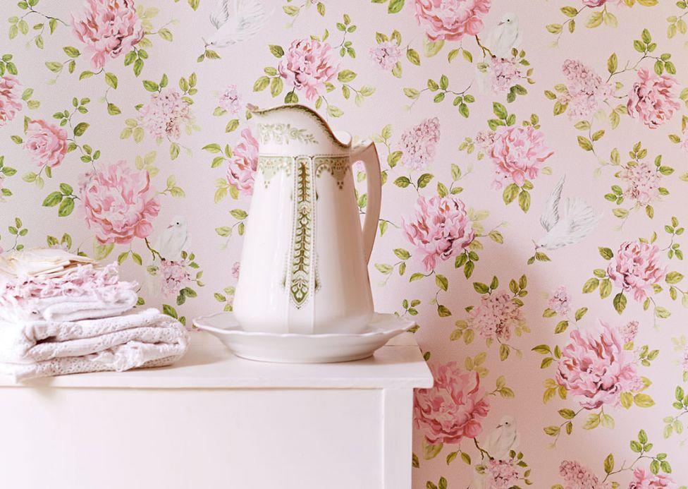 Papel de parede floral Papel de parede Swetta rosa Ver quarto