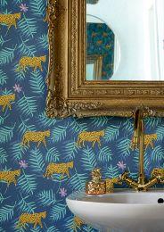Papel de parede Kabbo azul acinzentado