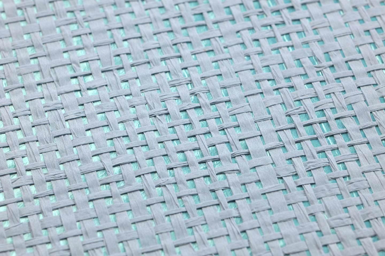 Mystic weave 05 mintt rkis hellblau natur tapeten for Tapeten land